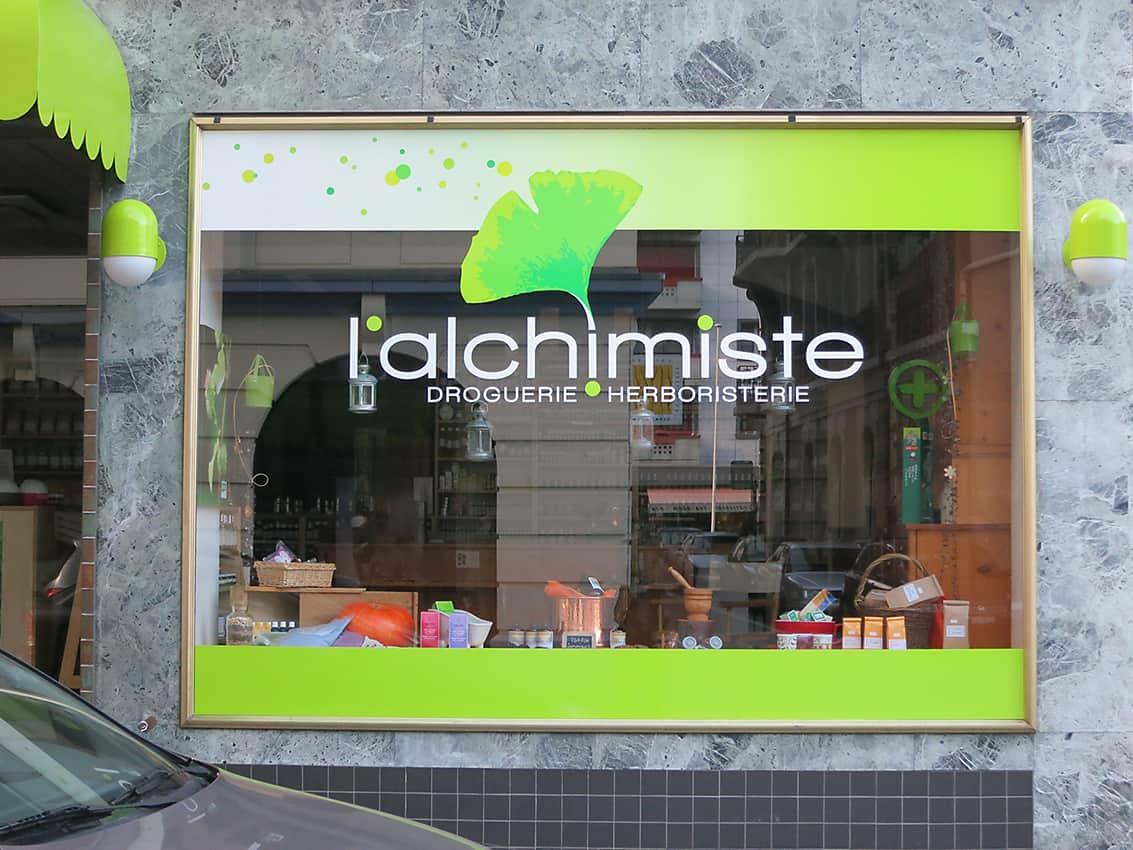 Alchimiste_2 - Anne Catherine Franzetti atelier de graphisme : logotypes, affiches, édition, signalétique, cartes de visite, prospectus, packaging, valais martigny - cat atelier