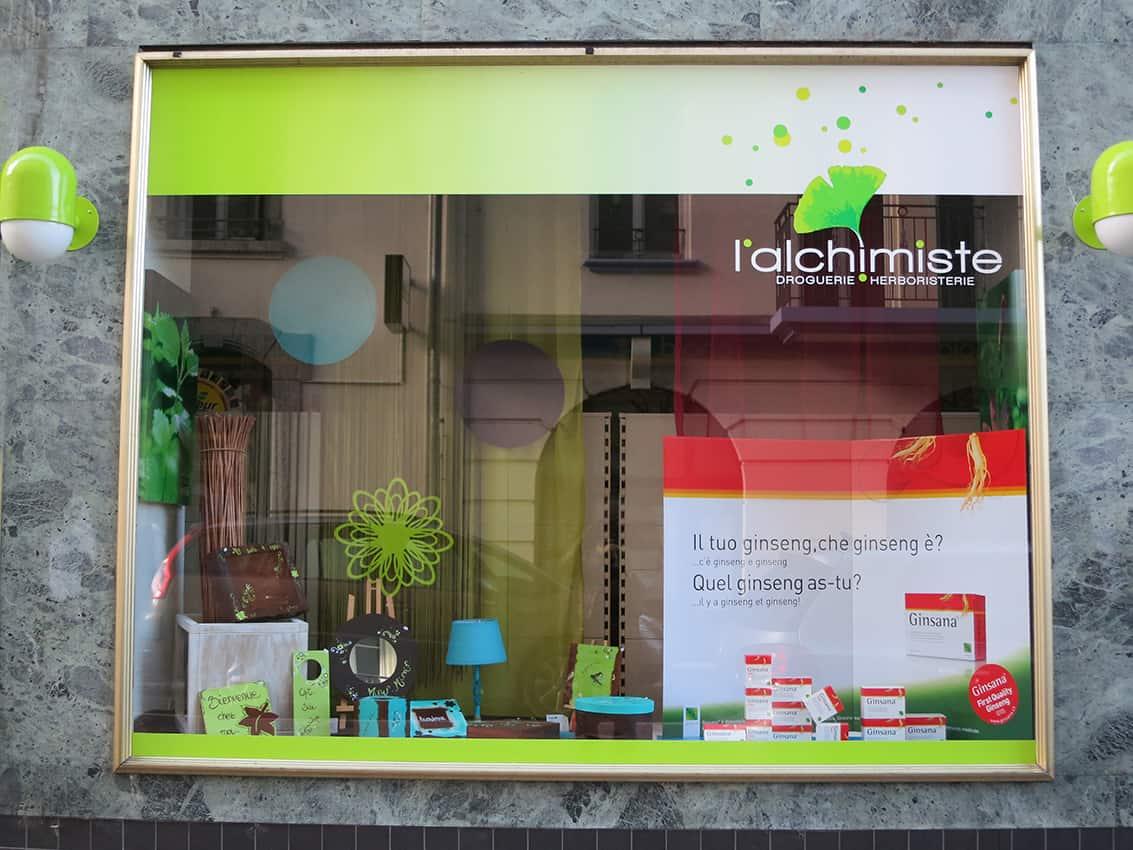 Alchimiste_3 - Anne Catherine Franzetti atelier de graphisme : logotypes, affiches, édition, signalétique, cartes de visite, prospectus, packaging, valais martigny - cat atelier