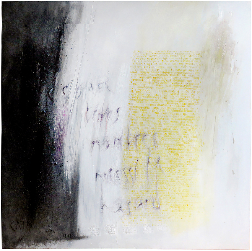 100x100 cm  -  Espace  Temps  Nombre  Nécessité  Hasard  -  Jean D'Ormesson
