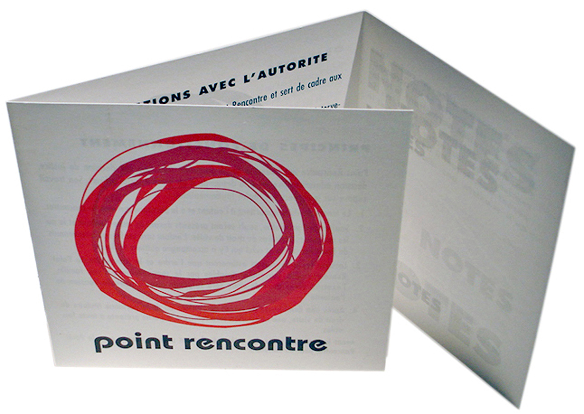 PointRencontre - Anne Catherine Franzetti atelier de graphisme : logotypes, affiches, édition, signalétique, cartes de visite, prospectus, packaging, valais martigny - cat atelier